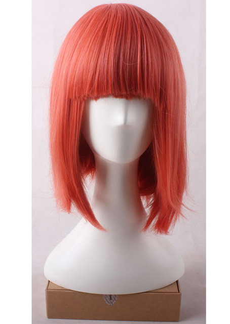 Nanami Haruka Orange Short Trim Bangs To Eyes Cosplay Anime Wig.Heat Resistance Synthetic Hair