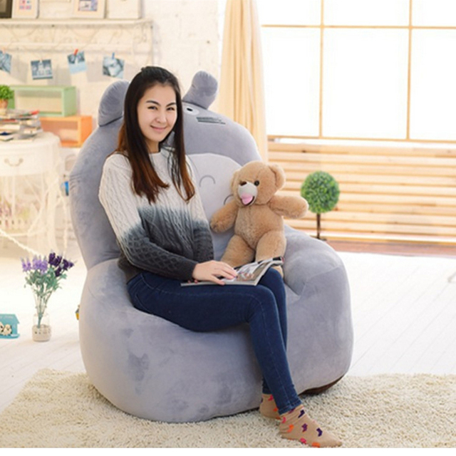 anime bean bag chair springs for dining room chairs fancytrader giant stuffed totoro plush sofa tatami pop luxury cartoon japan cat bed children adult