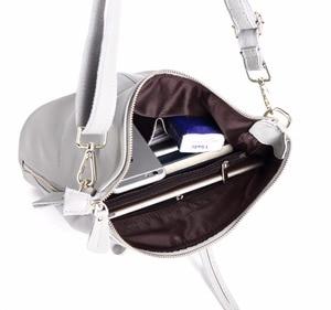 Image 5 - 100% Genuine Leather Small Womens Shoulder Bags Female Small Handbag Ladies Cross Body Messenger White Beige Bag