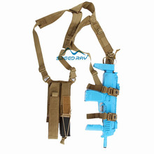 Tactical Arms Shoulder Holster for MP7 Submachine Gun SMG with Dual Magazine Pouch Outdoor Airsoftsport 1000D
