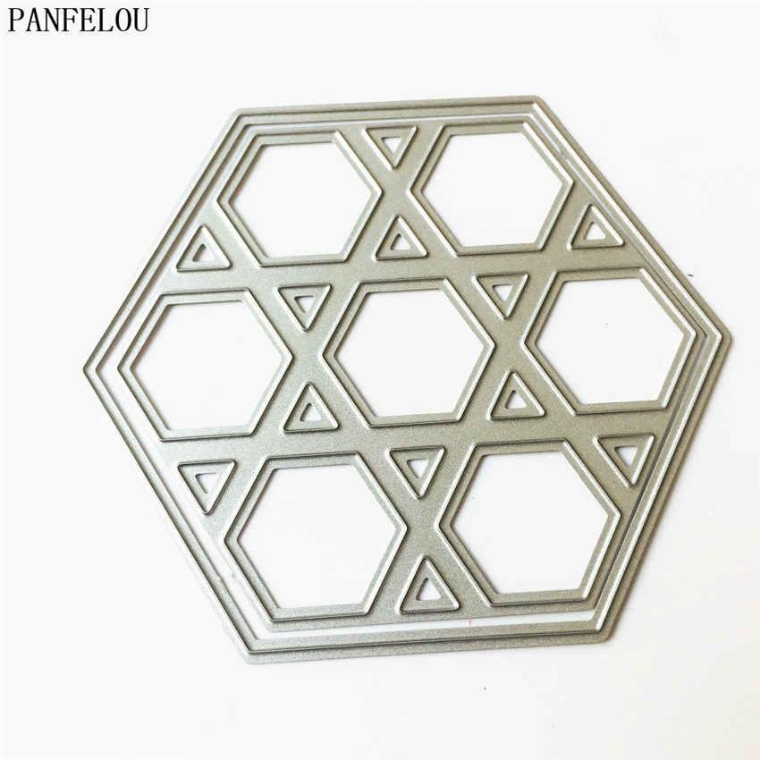 PANFELOU thủ công Kim Loại Ma Trận của rubik cube giấy chết cắt chết cho Scrapbooking/DIY Embossing khuôn Giáng Sinh wedding thẻ