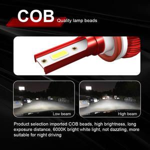 Image 2 - 2PCS רכב פנס מנורת H7 H11 LED H4 H1 H8 HB2 9005 H10 HB3 9006 LED ערפל אור הנורה מנורת אוטומטי פנס COB שבב 36W 6000k 12v