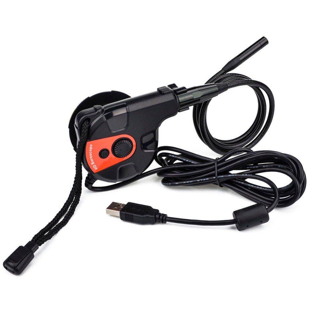 8.5mm Lens 80cm Probe Digital USB Endoscope Borescope Waterproof Inspection 720P Adjustable 6 Brightness LEDs Snake Wire Camera 7mm lens mini usb android endoscope camera waterproof snake tube 2m inspection micro usb borescope android phone endoskop camera