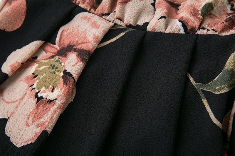 BONGOR LUSS Summer Maxi Dress Women Floral Print Dress V-Neck Sleeveless Spaghetti Strap Backless Side Split Sexy Long Dress (16)