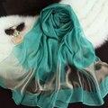 190*70 cm mulheres xales de seda como cachecol de verão para as mulheres cores doces organza capes frete grátis