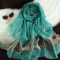 190*70cm women silk like scarf summer shawls for women candy colors organza capes free shipping
