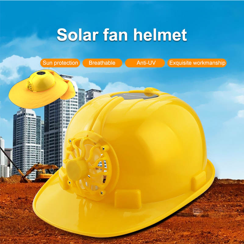 Solar Power Fan Helmet Outdoor Working Safety Hard Hat