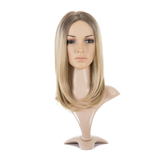 Mixed Ash Blonde Middle Part Long Wavy Wig High Temperature Natural Hair Wave Synthetic Wig Glueless Cosplay Fake Hair