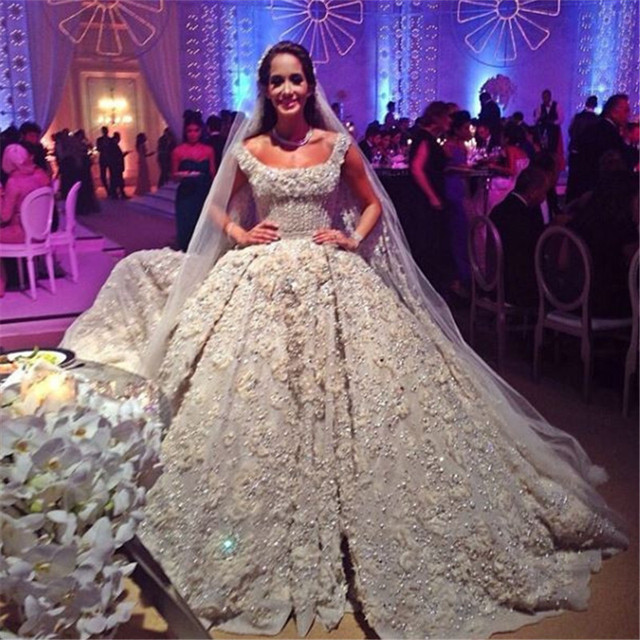 2016 Luxury High End Quality Best Stock New Le White Ivory Wedding Dress