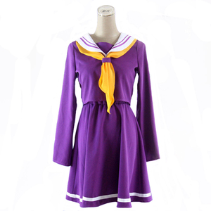 Image 1 - Anime Game No game no life cosplay Shiro costume Halloween women clothes carival dress wigs sailor suit Japanese school Uniform