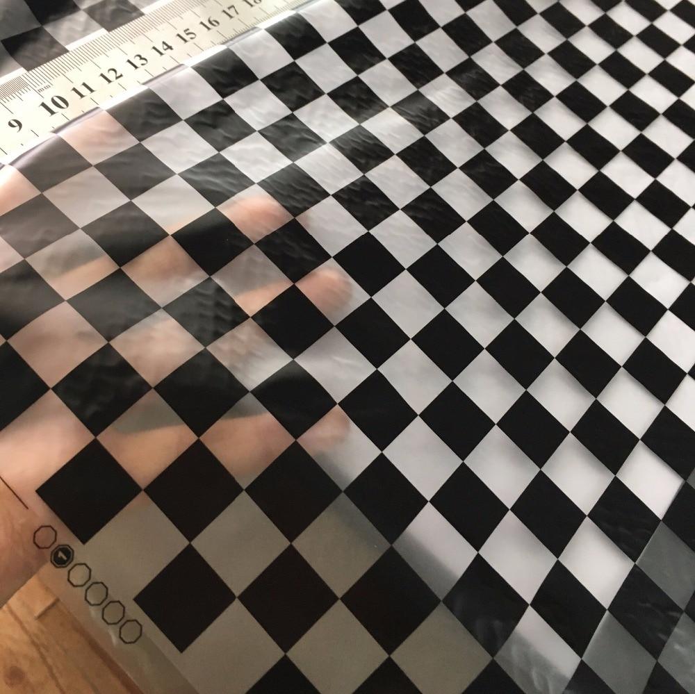 Супер-значение! Высокое качество черные квадраты вода трансферная печать пленки Hydrographics Фильм 0.5 м ПВА фильм. hfj005