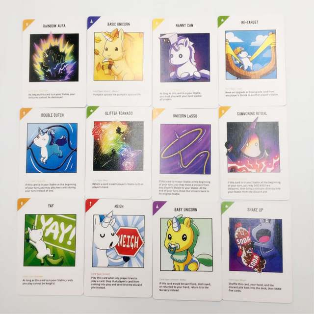 Unstable Unicorns Game Cards Fun Unicorn Party Game for Children
