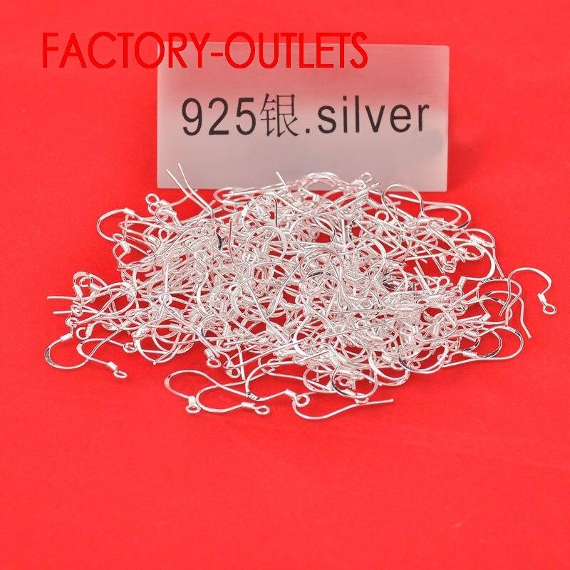 Incrível Big Promoção transporte Rápido 200PCS Descobertas Design de Jóias 925 Sterling Silver Bola Francês Ganchos Brincos de Prata