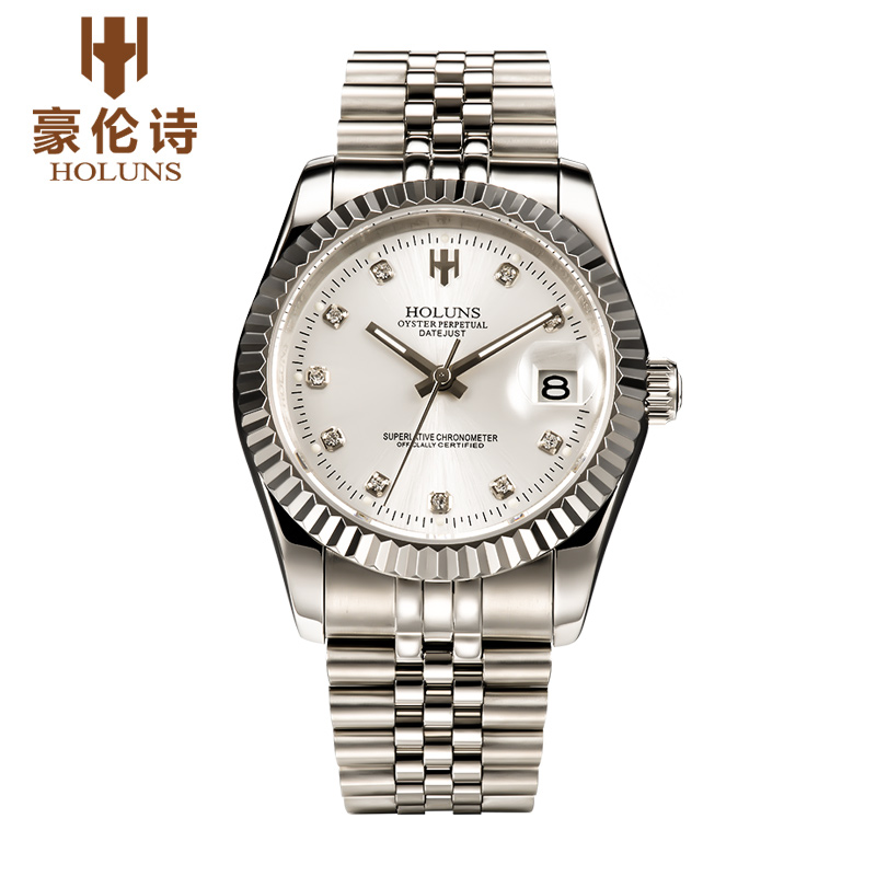 ФОТО HOLUNS R003 Watch Geneva Brand oyster perpetual datejust series men's luxury automatic mechanical 126331 relogio masculino