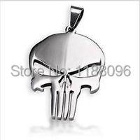 hot sales Skull Frank Castle Superhero dog tag  Wholesale and retail custom steel skull dog tag necklace hot sales steel cut tag