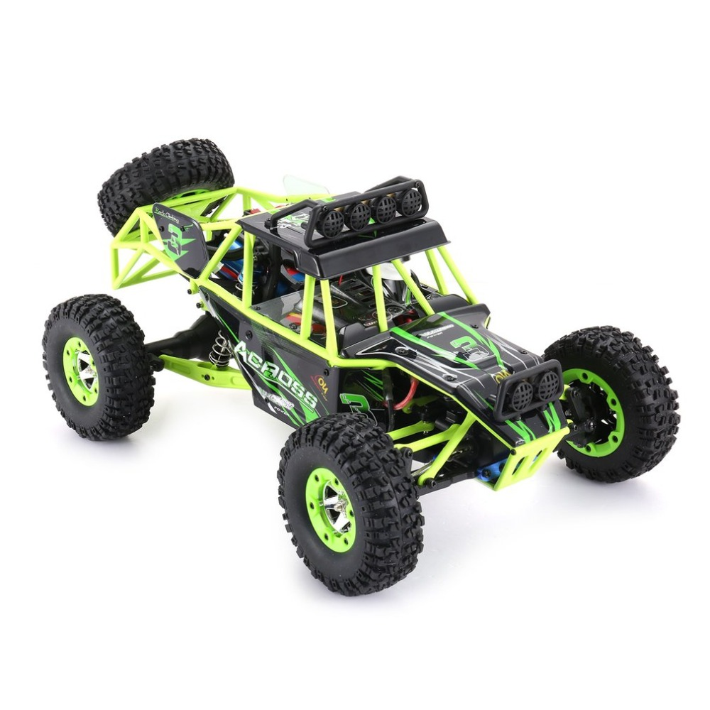 Wltoys 12428 1/12 2.4G 4WD High Speed 50km/h Electric Brushed Crawler Desert Truck RC Offroad Buggy Vehicle with LED Light new 7 2v 16v 320a high voltage esc brushed speed controller rc car truck buggy boat hot selling