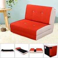 Giantex Folding Sofa Bed Modern Convertible Split Back Linen Futon Lovesear Sofa Chair Living Room Couch