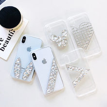 Simple Cute Glitter Diamond Phone Case For Huawei Mate 20 Lite 20X 9 10 Pro P10 P20 P30 Pro Lite Plus Clear Phone Back Cover(China)