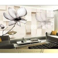 HD Przezroczysty kwiaty 3D Dostosować Fototapety Large Wall Mural Home Decor Wall paper Dla Living Room Pościel Pokoju 383