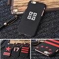 França marca de luxo logotipo givency matte hard case telefone pentagrama tarja case para iphone 5 5s 6 6 s plus casos capa capa