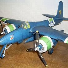 Высокое качество США F7F lynx fighter 3D бумажный модельный комплект