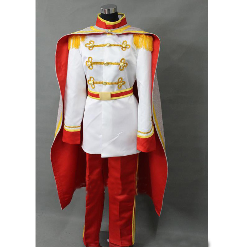 Sleeping Beauty Prince Phillip Cosplay Costume With Cape Halloween Carnival Party Costume Full Set Custom