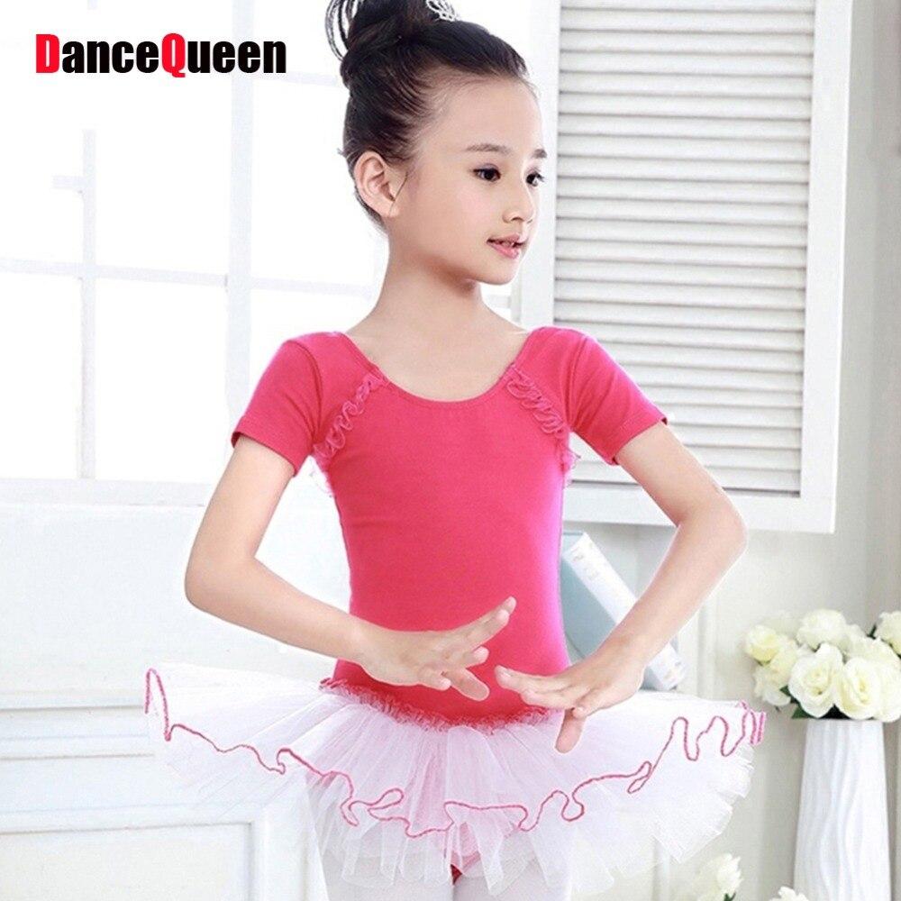 ⊱2017 nueva chica niños Ballet danza lycra material algodón ...