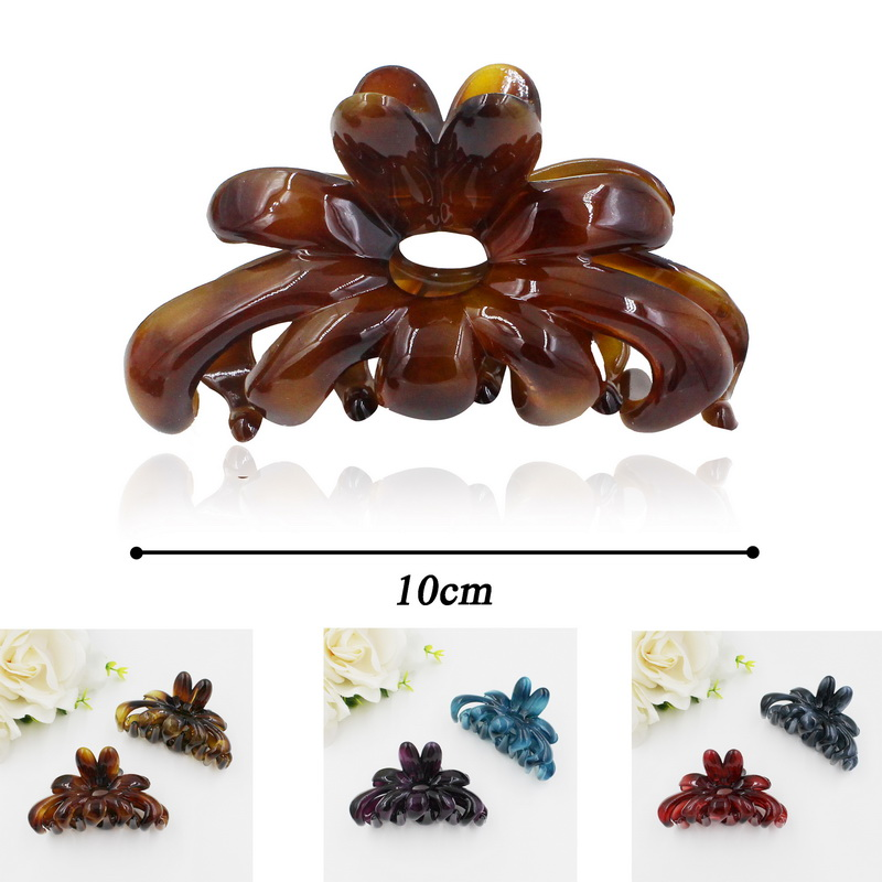 2016 New Design 2 mm Thickness Plastic Hair Clamp For Women Take Shower With Hairpin Bow Style Hair Claws  Women Hair Accessory fashion women girls 12pcs black plastic mini hairpin 10 claws hair clip clamp