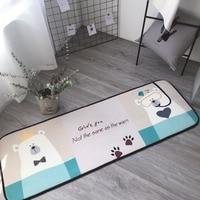 High Quality Kitchen Floor Mat Anti slip Water Absorption Carpet Bathroom Water Absorption Mat Bear Doormat Anti Slip Floor Mat