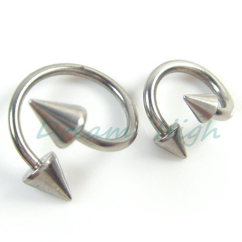 Wholesale New Arrive Lip Piercing Ear Piercing Screws Nose Ring Body Piercing For Women Girl 200pcs/lot Free Shipping