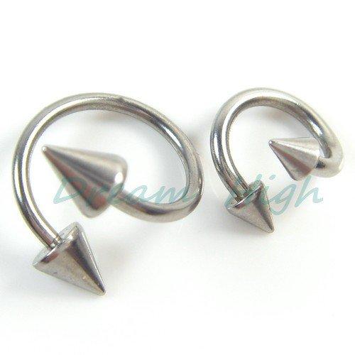 Wholesale New Arrive Lip Piercing Ear Piercing Screws Nose Ring Body Piercing For Women Girl 200pcs/lot Free Shipping