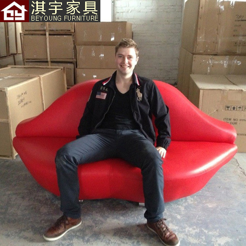 Simple And Stylish Designer Furniture Leather Red Lips Kiss Sofa Really  Creative Marriage Room Sofa Couch