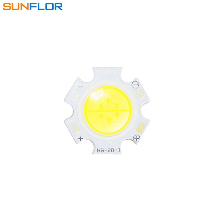 4Pcs/lots 3W High Power Lights Round COB LED SMD Chip Spotlight Bulb Downlight Warm / Cold White 130LM/W