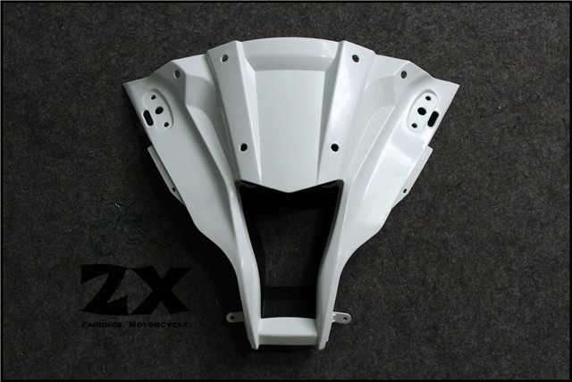 Complete Fairings For Upper Front Head Fairing Nose Cowl For KAWASAKI ZX 10R 2011-2015 Injection Mold ABS unpainted zx-10r p80 panasonic super high cost complete air cutter torches torch head body straigh machine arc starting 12foot