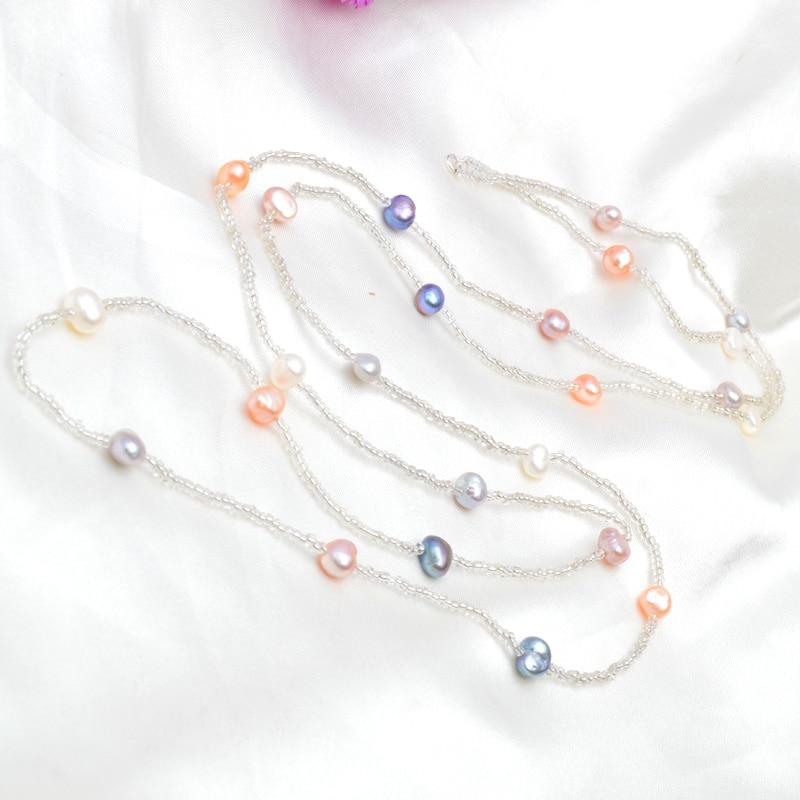 Collar de perlas barrocas de agua dulce natural ASHIQI para mujer, - Joyas - foto 2