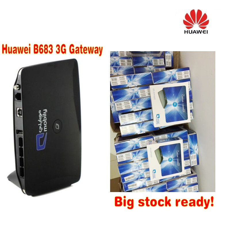 Unlocked HUAWEI B683 3G WiFi Router with SIM Card Slot unlocked huawei e5730 3g mobile pocket wifi router 3g mifi dongle 3g router with power bank with rj45 usb pk e5570 e5776 e5151