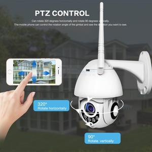 Image 3 - Wifi 카메라 야외 ptz ip 카메라 1080p onvif 2mp 무선 보안 속도 돔 카메라 ir cctv 감시 카메라 p2p app xmeye