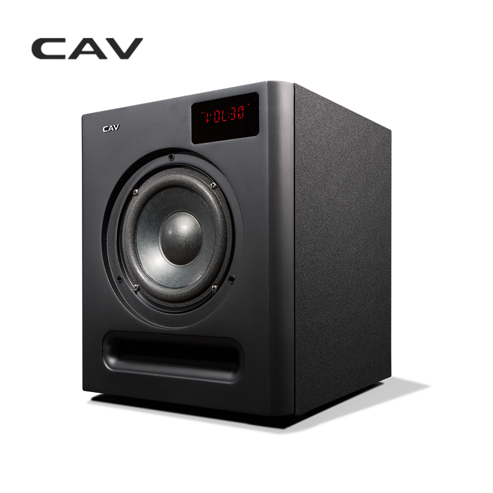 CAV SW360B Subwoofer Speaker 6.5 Pollici 2.4G Bluetooth 3.1 Canali Coassiale AUX Uso Domestico Bass Audio HQ 3.1 Subwoofer altoparlante