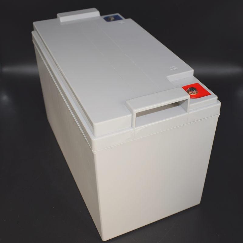 Assemblage de cellules prismatiques LFP de batterie au Lithium 12.8V 120AH avec Cycle profond BMS pour le stockage d'énergie solaire sans entretien