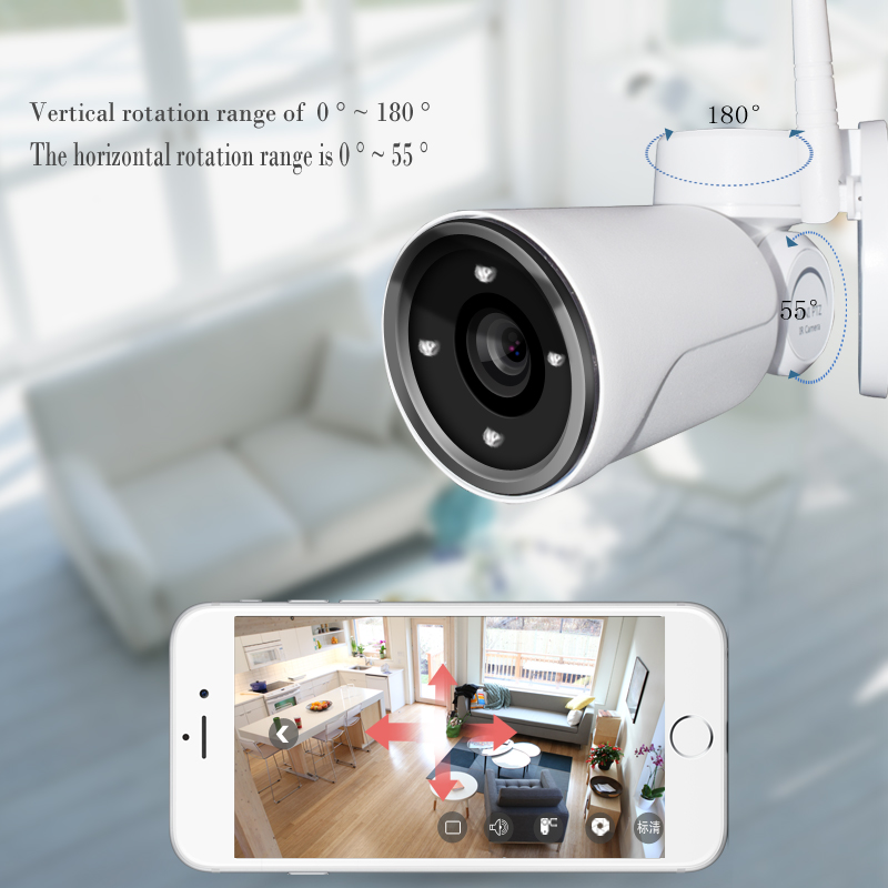 960P 1.3MP PTZ IP Camera 4X ZOOM Waterproof Mini Bullet Wi-Fi Camera Outdoor Rotate IR CCTV Surveillance Security Cameras china products waterproof ir bullet ip cameras for dvr outdoor security bullet cctv camera