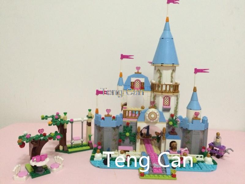 AIBOULLY New SY325 Building Block Cinderella Romantic Castle Princess Friend Blocks minis Bricks Girl Sets Toy Free Shipping