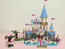 AIBOULLY New SY325 Building Block Cinderella Romantic Castle Princess Friend Blocks minis Bricks Girl Sets Toy