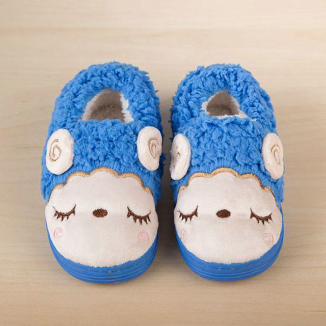 [Sashine]Winter Children Slipers Home Shoes Boys Girls Warm Shoes Cute Sheep Cotton Shoes Pink Blue Coffee SAS-9012