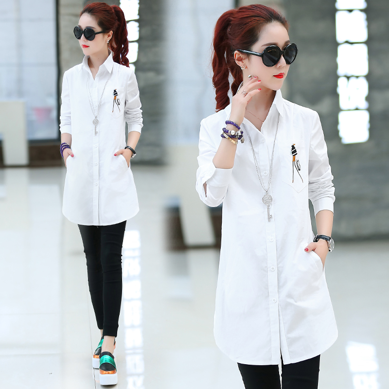 7db87ecf730 2019 Elegant embroidery Blouse White Shirt Women Plus Size Ladies Office  Shirts Formal   Casual Cotton Blouses Blusas Femininas-in Blouses   Shirts  from ...