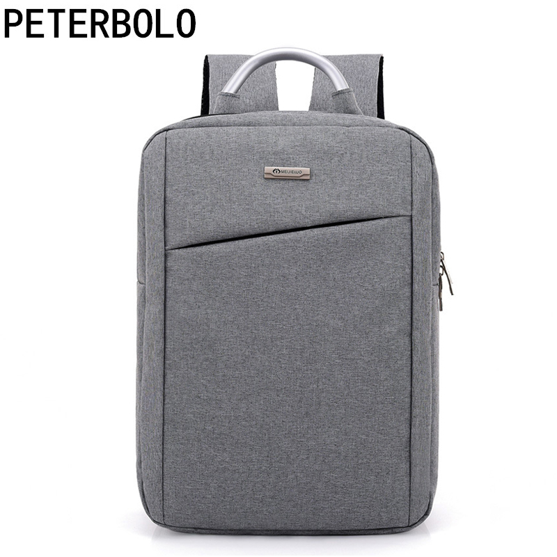 Light Business Style Men Backpack Fashion Large Capacity Computer Bag Casual Canvas Boy School Bag Mochila Simple Travel Bags