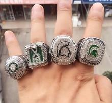 Envío de la gota 4 unids/set 1979 2013 2015 2016 Anillo de Campeonato Rose Bowl de Fútbol Michigan State Spartans Tamaño 11 Joyería