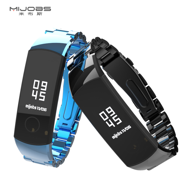 For Huawei Honor Band 5 Strap Smart Wristband  Stainless Steel Metal Bracelet Band Compatible Honor Band 4 Correa