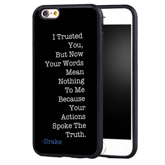 the best attitude 6d29d 6bd56 US $4.99 |Super star Drake Work quotes protect edge Case Cover For iPhone 8  6 6S Plus 7 7Plus 5 5S 5C SE-in Fitted Cases from Cellphones & ...