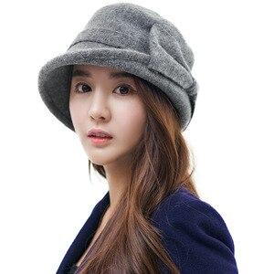 Image 3 - Fancet chapeau en feutre béret pour femmes, bonnet avec bol en laine, Bonia, Vintage, mode, automne 1920s, 16209