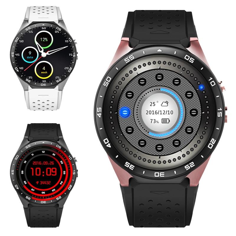 Smart qol saatı Android 5.1 BT 4.0 Smart Watch Wifi GPS Kamera 2.0 Passometer Ürək Rate Monitoru Pulsuz Yükləmə Proqramları Hədiyyə Man